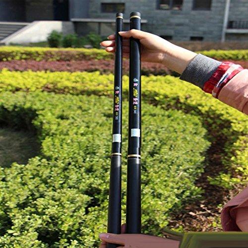 CAISHEN ® Glas Stahl Stromstab Handstangen 3,6 4,5 5,4 6,3 Meter Super hart Lange Angelrute Fanggeräte , 4.5 - Spinnruten Glas