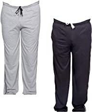Indistar Women Premium Cotton Lower with 1 Zipper Pocket and 1 Open Pocket(Pack of 2)_Grey::Black-40