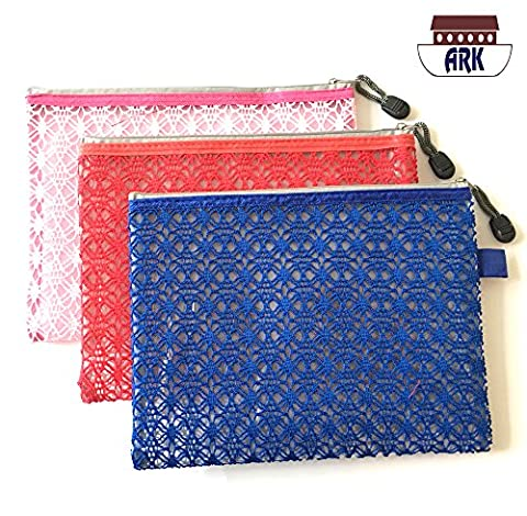 Versatile Decor Zip Up Make Up Mesh Plastic Pouch Bag - SINGLE Available in 3 sizes (A5)