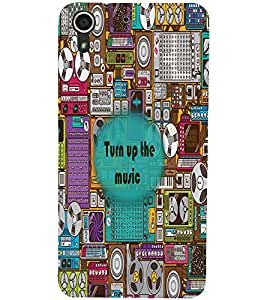 PrintDhaba Quote D-2677 Back Case Cover for HTC DESIRE 728 (Multi-Coloured)