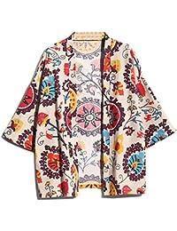 Kimono,Hombre Estilo Nacional Tamaño Grande Manga 3/4 Japonesa Delgada Capa Ropa