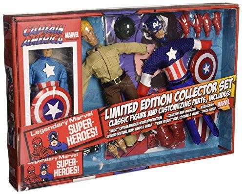 Marvel SEP142256 Captain America Spielzeug, 20,3 (Captain Action Kostüm Set)