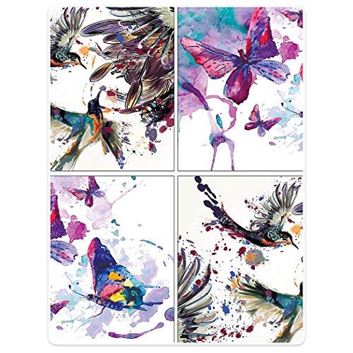 YISUMEI Decke 125x200 cm Kuscheldecken Sanft Flanell Weich Fleecedecke Bettüberwurf Lilie blüht Vogel-Aquarell-Malerei Aquarell Schmetterling Kunst