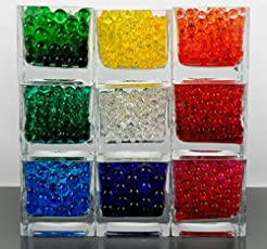 Kuhu Creations Supreme Colorful Pearl Shape Water Absorbing Crystal Mud Soil Aqua Balls. (5 Small Bags, Single Color Bags (As Available))