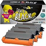 Yellow Yeti TN2220 TN2010 (2600 Pages) 3 Cartouches Toner compatibles pour Brother HL-2220 HL-2240 HL-2130 HL-2135W HL-2230 HL-2250DN HL-2270DW DCP-7055 DCP-7060 DCP-7065 DCP-7070 [Garantie de 3 Ans]