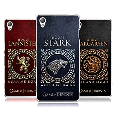 Head Case Designs Official HBO Game Of Thrones Metallic Sigils Soft Gel Case for Sony Phones 1