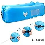 Luftsofa, icefox Wasserdichtes Aufblasbares Air Lounger mit Tragebeutel, zum Schlafen im Freien, im Innenbereich, zum Zurücklehnen und Entspannen, Aufblasbarer Sitzsack für Camping den Strand  zum Fis