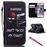 iPhone 6/6S Hülle, Slim Retro PU Leder Bookstyle Hülle Tasche Flip Wallet Case mit Strap Portable Handytasche Anti-Scratch Shell Cash Pouch ID Card Slot Magnetverschluss Etui Soft Silikon für Apple iPhone 6/6S (4.7 Zoll)