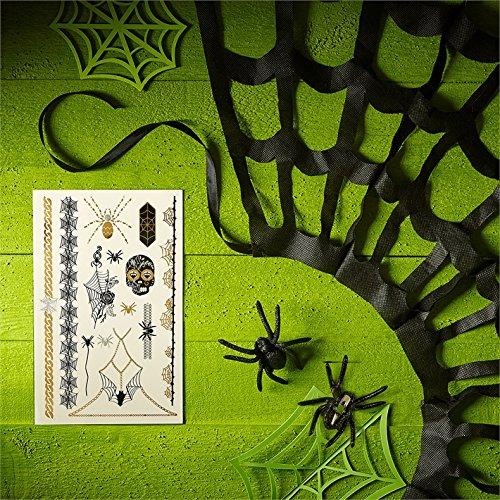 Schickes praktisches Express Halloween Kostüm Set mit Metallic Tattoos