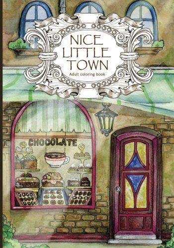 Produktbild Adult Coloring Book: Nice Little Town