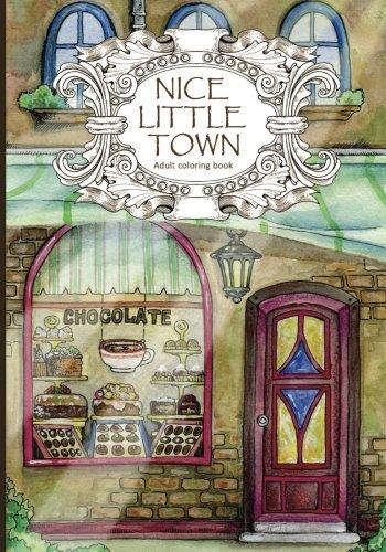 Preisvergleich Produktbild Adult Coloring Book: Nice Little Town