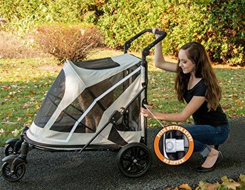 Pet Gear No-Zip Expedition Zipperless Entry Boysenberry Pet Stroller 4