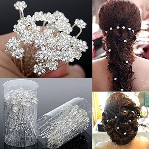 20x Demarkt U Form Haarnadel Pins Haarspangen Zubehör Hochzeit für Braut als Kopfschmuck