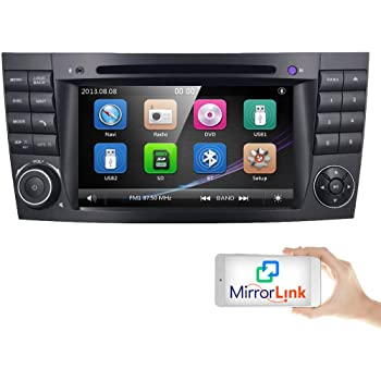 voiture gps dvd usb sd bluetooth autoradio 2 din navi pour mercedes benz w211 w219. Black Bedroom Furniture Sets. Home Design Ideas