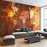murando - Fototapete 400x280 cm - Vlies Tapete - Moderne Wanddeko - Design Tapete - Wandtapete - Wand Dekoration - Weltkarte Welt Karte Landkarte Kontinente k-C-0059-a-a