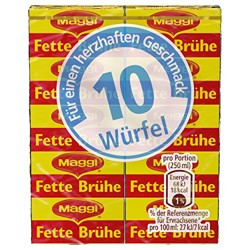 Maggi Fette Brühe, Stange mit 10 Würfeln à 10 g, ergibt 5 Liter