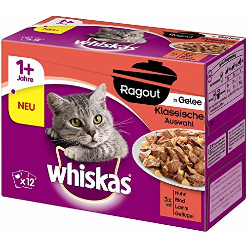 Whiskas PB MP ragout 1 + in Gelatina klass. AW | 4 X 12 X 85g katzenf.