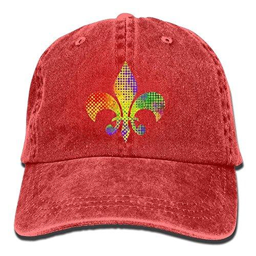 NDJHEH Hüte,Kappen Mützen Fleur De Lis Mardi Gras Adult Sport Adjustable Baseball Cap Cowboy Hat