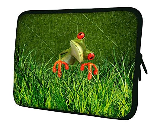 Luxburg® Laptop Sleeve EK10393 Schutzhülle, 43 cm (17 Zoll), Red-Eyed Frog, Stück: 1