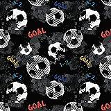 Selfkant Stoffe (15,90 €/M) French Terry Meterware ab 50cm - Fussball Tor Goal Fußball