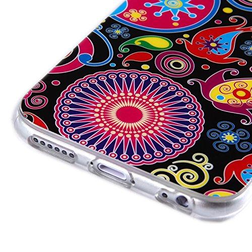 tinxi® Silikon Schutzhülle für Apple iPhone 6 Plus/6s plus 5.5 zoll Hülle Silicon Rückschale Cover Case Etui Schutz viele Eulen in gelb Qualle