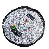 LINAG Giocattolo Sacco Raccolta Borsa Conservazione Giochi Tappetino Veloce Raccolta Tappetino Bambino Portatile Organizer Raccogli Giocattolo Toy Pouch Tidy Storage Quick Nylon , B