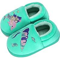 MASOCIO Pantofole per Bambini Peluche Cartoni Animati Scarpe Ciabatte Chiuse da Casa Antiscivolo