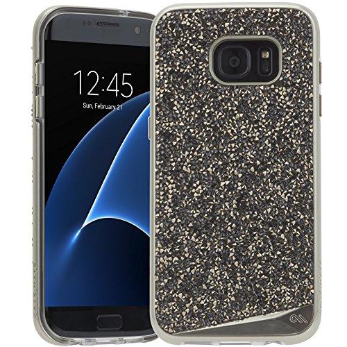 Case-Mate Brilliance Case für Samsung Galaxy S7 edge in champagner - von Samsung zertifizierte Schutzhülle [Echte Kristalle | Einzigartig & edel | Tasten in Metall Optik] - CM033990 (Champs-taste)