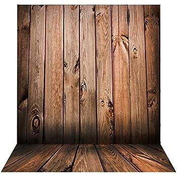 Retro Fotohintergrund 2.1mX1.5m Hintergrund Foto Studio Braun Wand Holzboden