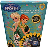 Disney Frozen Fever Bumper Sticker Activity Scenes with 2 Sheets of Reusable Stickers