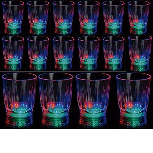 sses LED Flashing Drinking Blinking Barware Party Glass Lot by ATB ()