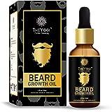 The Yogi Beard Growth Oil for Men - with Argan, Rosemary, Jojoba, Hibiscus Oil - Advanced - Booster - 30ml