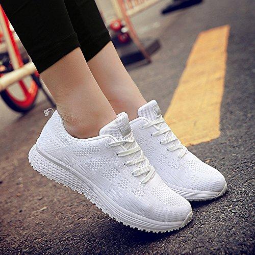 Scarpe Donna da Ginnastica Running Sports Sneaker da Fitness Allacciare  Maglia Nero Blu Grigio Bianco Verde 35-44 2440c710162