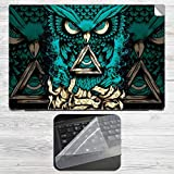 Infinity Owl Laptop Skin + Silicon Laptop Keyboard Protector Cover Combo for all HP, DELL, ASUS, SONY, SAMSUNG, ACER Laptops upto 15.6-inch Screen Size. 2mm Rubber Speed Edition Gaming Mouse pad for all Wireless Gaming, Laser and Optical Mouse.HP, DELL, ASUS, SONY, SAMSUNG, ACER Laptops upto 15.6-inch Screen Size. 2mm Rubber Speed Edition Gaming Mouse pad for all Wireless Gaming, Laser and Optical Mouse.