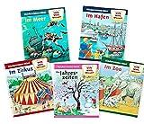 Kinderwissen-Mini – Kinder-Minibücher 5er-Set – Willi Wills Wissen Bilderbuch – Im Zirkus Meer Jahreszeiten Hafen Zoo – Pixi-Buch Büchlein - Märchen fairy tales