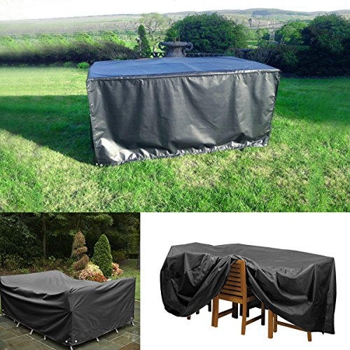 ROSENICE Waterproof Furniture Covers Tarpaulin Dustproof Outdoor Table Covers for Garden Patio Furniture,250*250*90CM