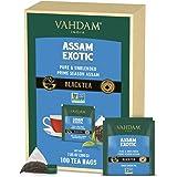 VAHDAM, Assam Schwarztee (100 Teebeutel) - Langblatt Schwarzteebeutel- REICH&MALZIG - Frühstück Teebeutel   100% reine unverm