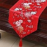 GAOYU Couverture de drapeau de table classique Couvertures de brocart Table basse Tissu Art Décoration chinoise moderne de table à manger, 33 * 150Cm