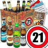 Geburtstagsgeschenke für Männer zum 21. | Bierpaket mit Bieren der Welt