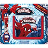 Kids - Spiderman, set billetera y reloj digital (MV16072)