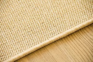"""Flatwoven Rug Gotland Sisal Look Colour Natural - Edge Locked, Outdoor Use, Size 66x130 cm (2'2""""x4'3"""") from Steffensmeier"""