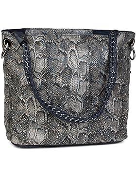 [Gesponsert]styleBREAKER Handtaschen Set mit Strass Applikation im Sternenhimmel Design, 2 Taschen 02012013