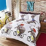 """# Ropa de cama juego de funda nórdica """"Nellie el elefante circo, 52% poliéster, 48% algodón, multicolor, doble"""