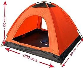 WAJUMO-ATG Auto Pop-up 4 Tent (Orange) | 4 Person Tent