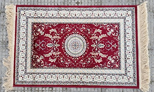 Alfombra de modelo persa en varios colores, varios tamaños, con flecos, fabricada en Bélgica