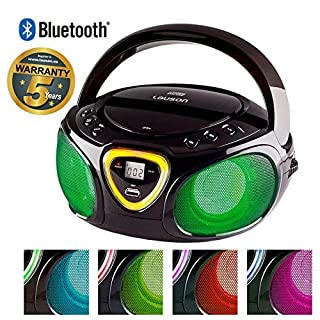 Lauson CP750 Cd-Player | Boombox | Portable Radio CD Player with Bluetooth | Usb & MP3 Player | Headphone Jack (3.5mm)