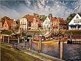 Poster 40 x 30 cm: Fischerboote im Fischerhafen Greetsiel