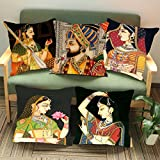#10: Aart King and Queens Printed Cushion Cover 20x20 (Set of 5) by Aart Store