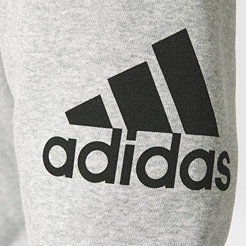Adidas essentials pantalon de sport en polaire pour homme Gris - Gris/Noir