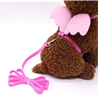 Futurekart Adjustable Harness Leash Bunny Puppy Traction Rope for Dog & Cat (Size: M, Pink)